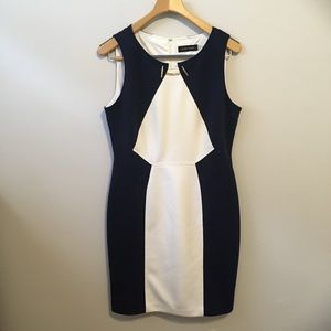 Ivanka Trump Navy Blue and White Dress | Size 14